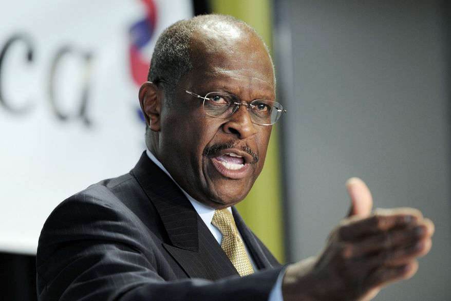 Republican presidential candidate Herman Cain is trying to win over a party that hasn't had a black nominee. (Associated Press)
