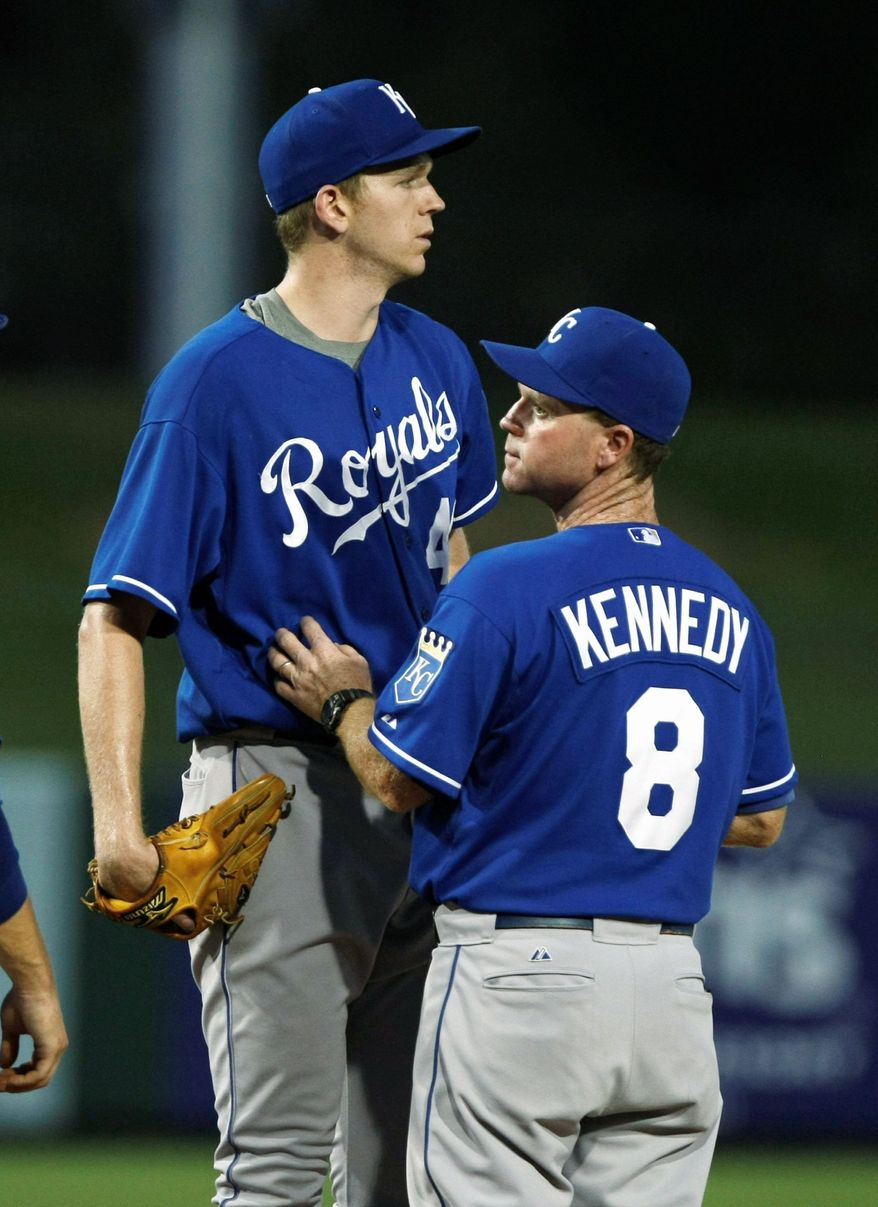 Kansas City rookie-league pitcher Stephen Lumpkins (left) returned to American after being taken in the 42nd round by Pittsburgh in 2010. He was selected by the Royals in the 13th round this year. At AU, he averaged 13.5 points last year and was named second-team All-Patriot League. (Rick Scuteri/Special to The Washington Times)