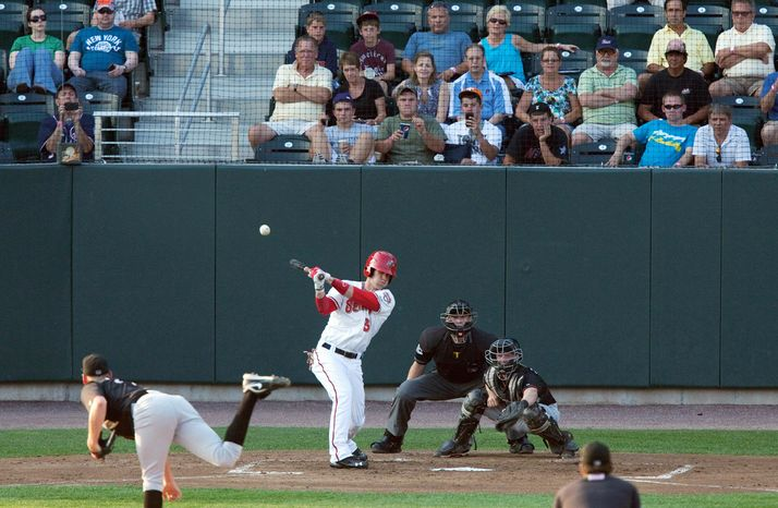 ASSOCIATED PRESS PHOTOGRAPHS Nationals prospect Bryce Harper was unqualifed hit in his first pro stop, Single-A Hagerstown. Now he's at Double-A Harrisburg and remains in demand with the fans because of his booming bat and cannon-like arm. And he won't turn 19 until October.