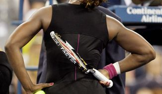 ASSOCIATED PRESS Serena Williams has turned her back on her hot-tempered ways, preferring to serve as a role model for youths.