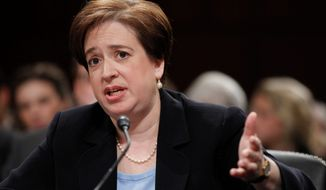 Supreme Court Justice Elena Kagan, while testifying as a nominee in June 2010, reportedly told a Senate panel she had never been asked about her opinion or had offered any comments about proposed health care legislation while solicitor general. (Associated Press)