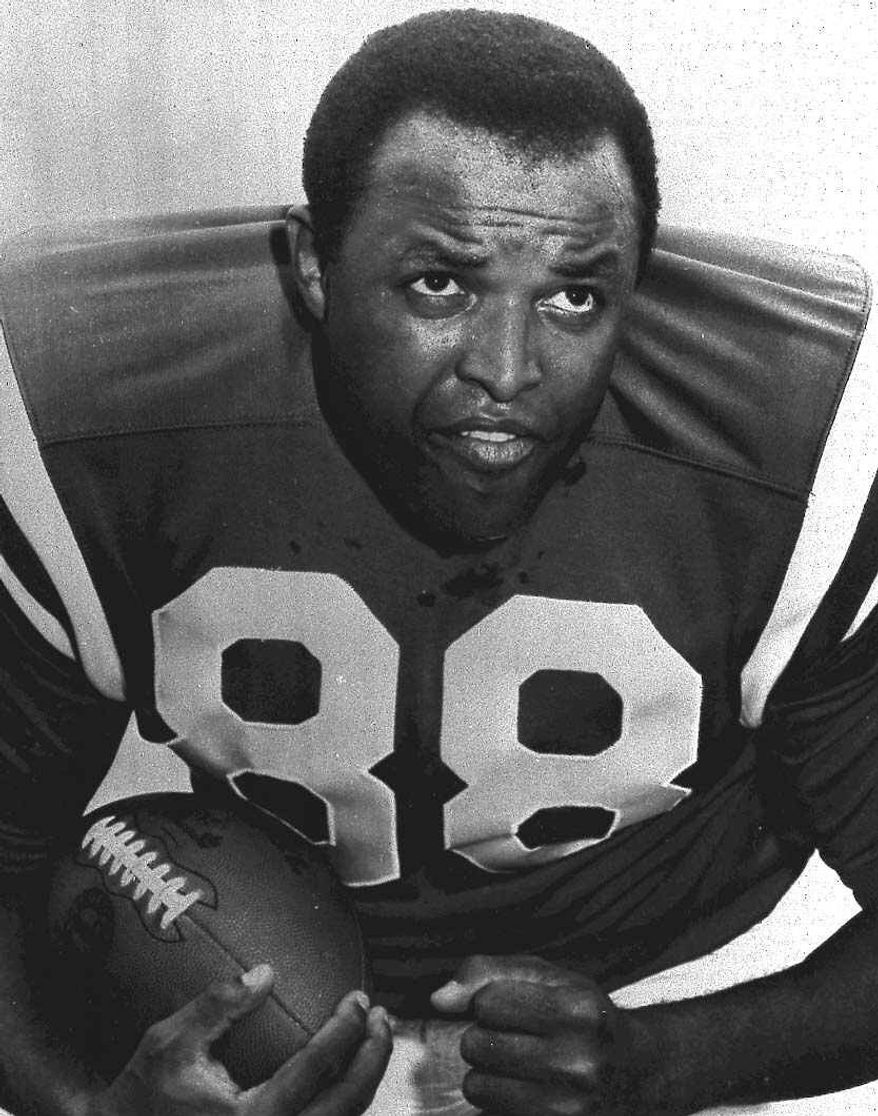**FILE** This 1969 handout provided by the Baltimore Colts shows NFL Hall of Famer and former Colts player John Mackey, who died July 7, 2011, at 69. (Associated Press)
