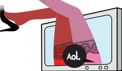 Illustration: AOL's gutter by Linas Garsys for The Washington Times