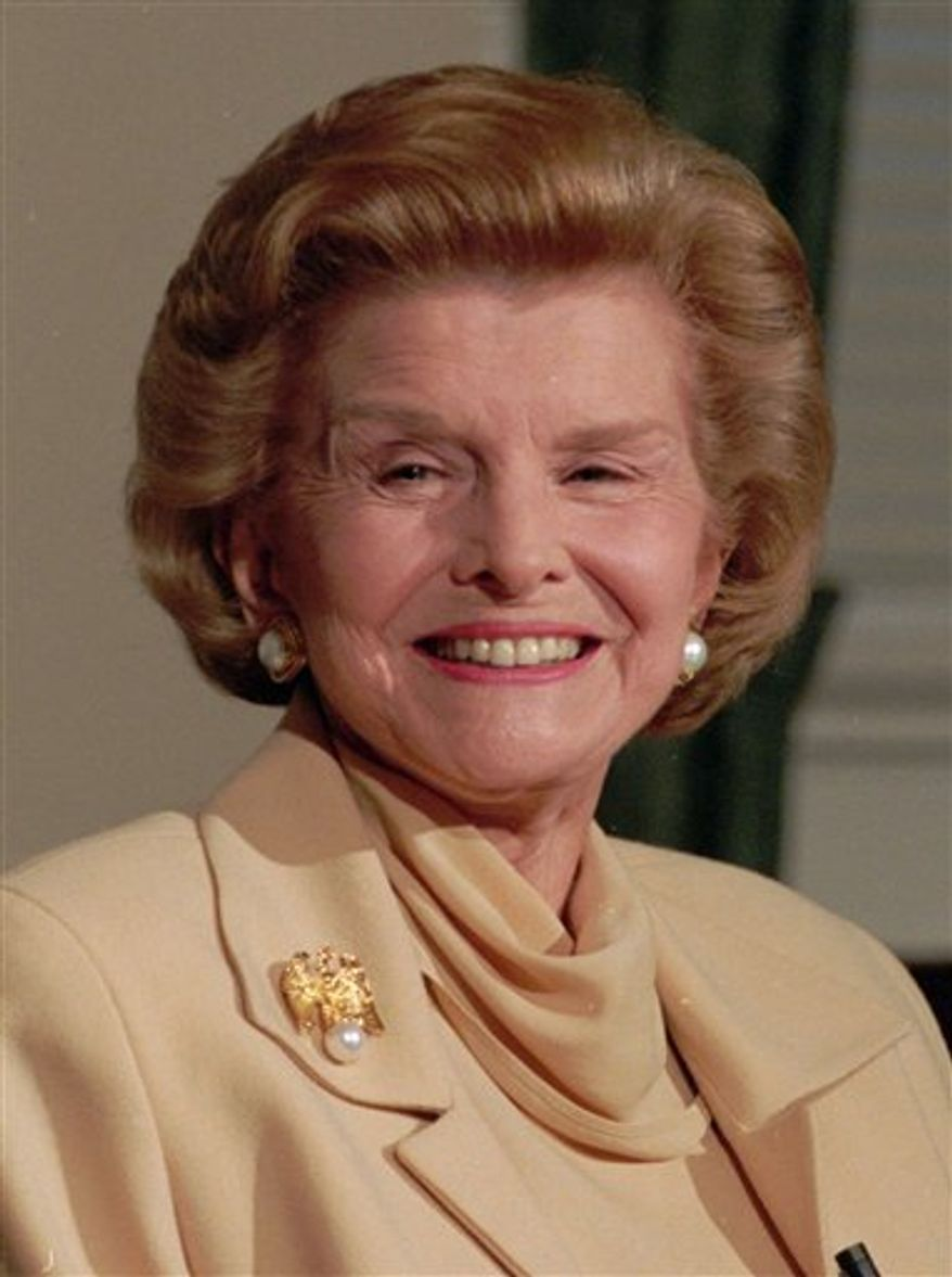 ** FILE ** Former first lady Betty Ford is pictured in 1994. (AP Photo/Doug Mills, File)