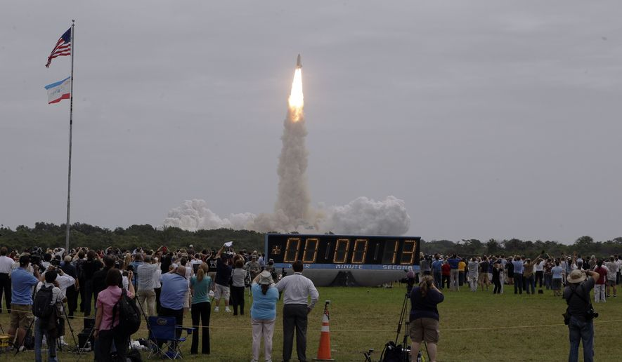 The space shuttle Atlantis lifts off from the Kennedy Space Center Friday, July 8, 2011, in Cape Canaveral, Fla. Atlantis is the 135th and final space shuttle launch for NASA. (AP Photo/Morry Gash)