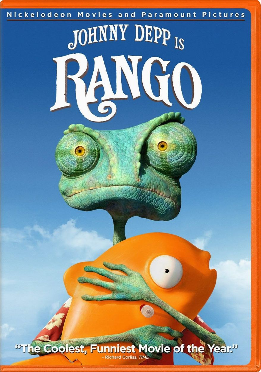 """DVD Cover for Paramount Home Video's release """"Rango."""