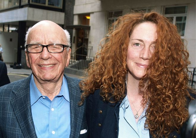 Rupert Murdoch, chairman of News Corp., shown with chief executive Rebekah Brooks, has traveled to London in the wake of the phone-hacking scandal that has shaken his media empire. A pending deal to acquire full control of British Sky Broadcasting is threatened. (Associated Press)