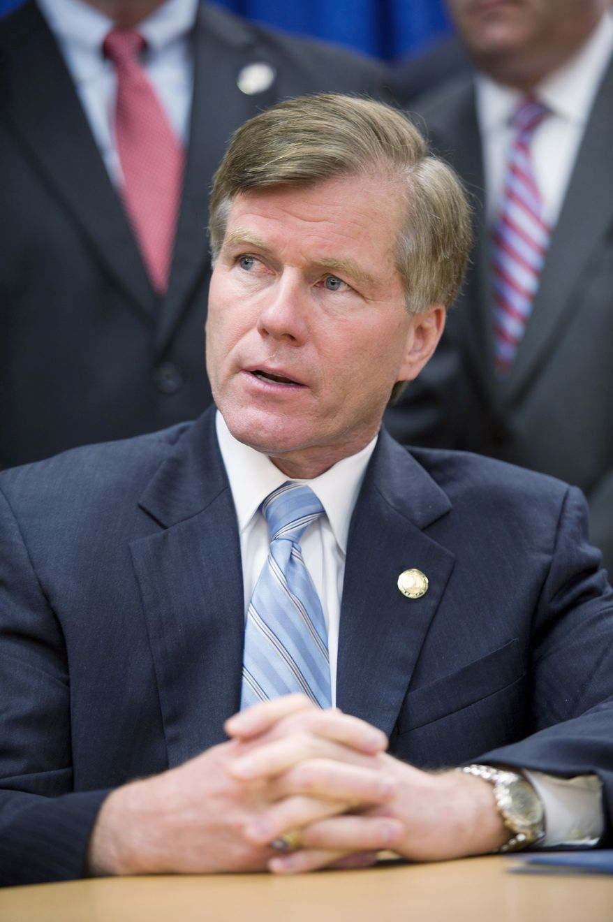 **FILE** Virginia Gov. Bob McDonnell (Barbara L. Salisbury/The Washington Times)