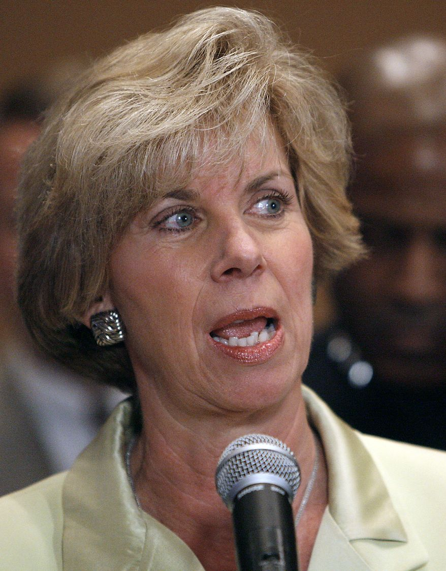 ** FILE ** Los Angeles City Councilwoman Janice Hahn (above) is the Democratic candidate in a special election to fill the seat of retiring U.S. Rep. Jane Harman. (AP Photo/Gus Ruelas, File)