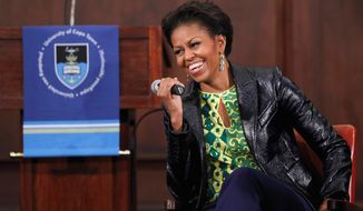 "ASSOCIATED PRESS Michelle Obama has been criticized for eating a meal at Shake Shack on Dupont Circle on Monday. ""It's all about moderation,"" said the first lady, who has made healthy eating her project since 2008."