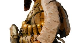 Illustration: Shariah soldier by John Camejo for The Washington Times