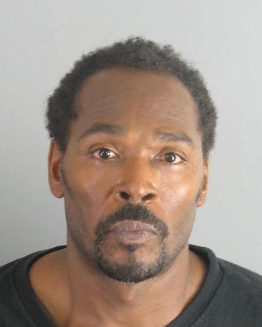 Rodney King, seen here in a booking handout photo provided by the Riverside County Sheriff's Department, was arrested by the Moreno Valley, Calif., Police Department July 12, 2011, on suspicion of driving under the influence. (Associated Press/Riverside County Sheriff's Department)