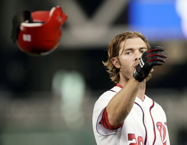 Washington Nationals' Jayson Werth is batting .218 with 11 home runs and 33 RBI this season. (AP Photo/Carolyn Kaster)