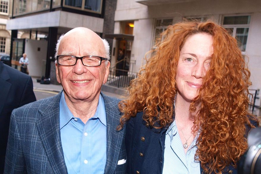 ** FILE ** Media baron Rupert Murdoch and Rebekah Brooks, then News International chief executive, are pictured on Sunday, July 10, 2011. Ms. Brooks resigned from the company on Friday. (AP Photo/ Ian Nicholson/PA)