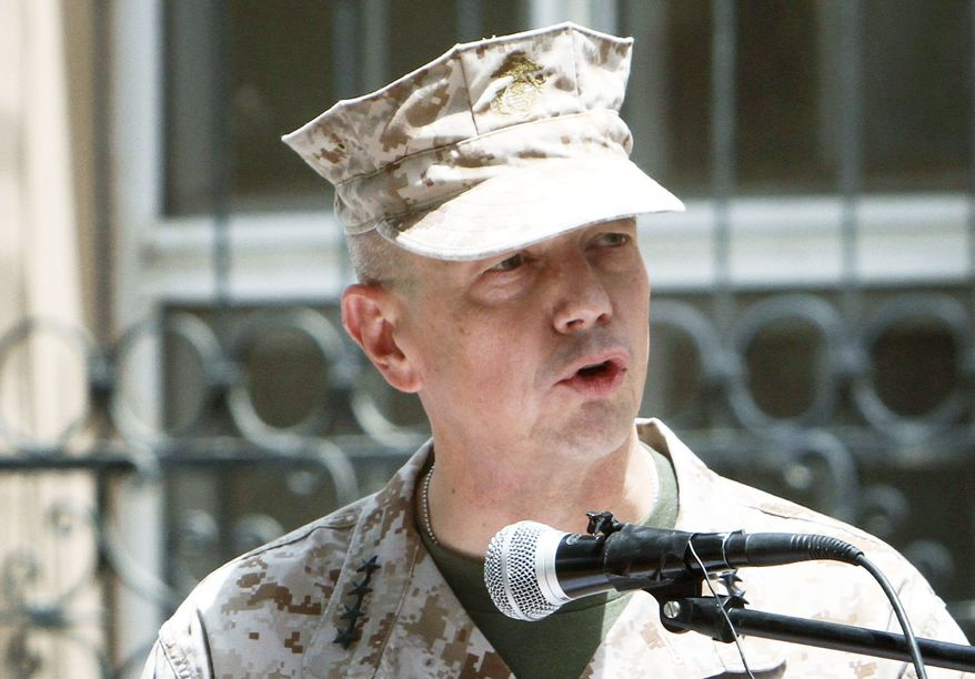 """There will be tough days ahead. I have no illusions about the challenges,"" Gen. Allen said of his new duties. (Associated Press)"
