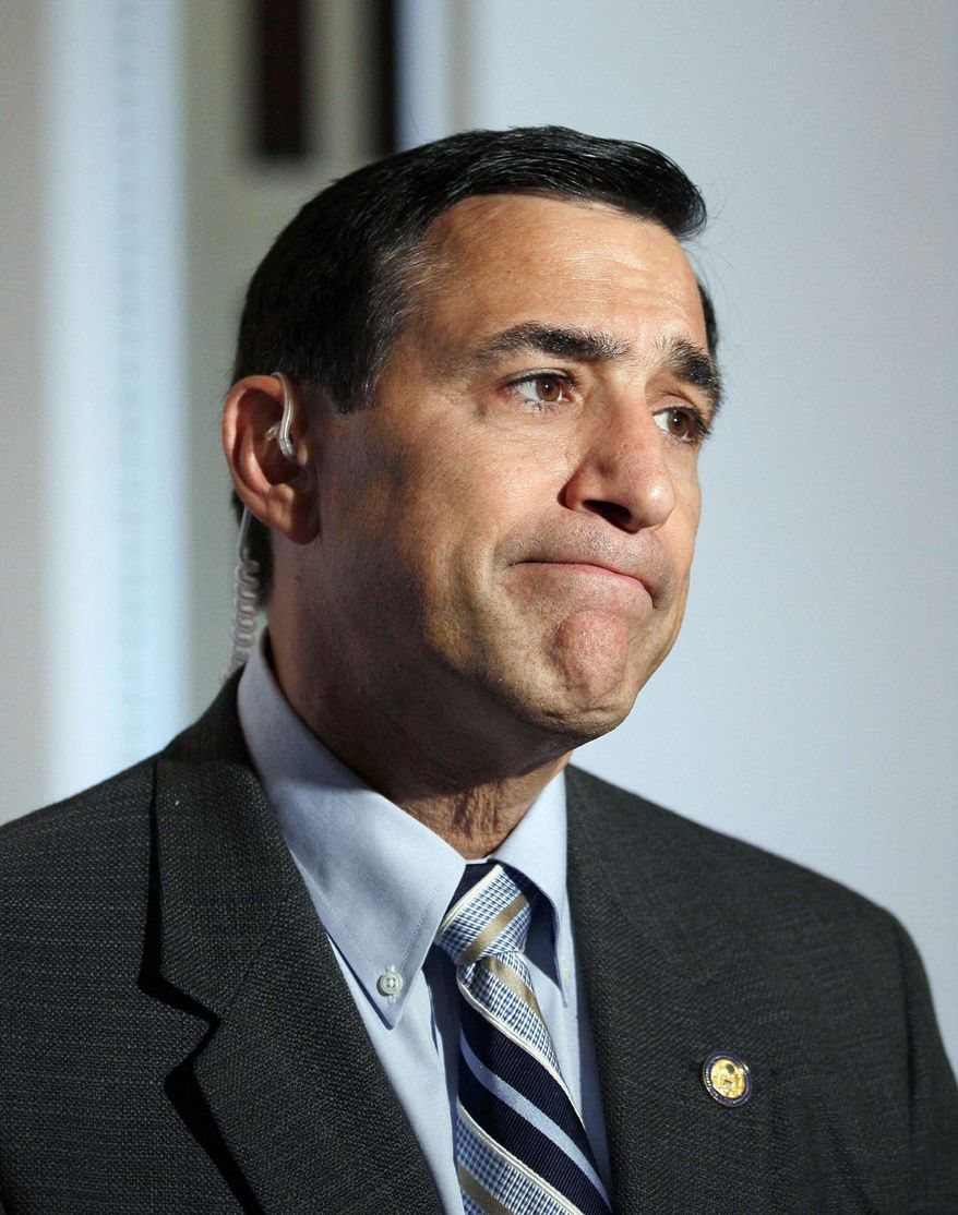 Rep. Darrell Issa, California Republican (seen here) and Sen. Charles E. Grassley, Iowa Republican, have concerns about an ATF program that allowed weapons bought in U.S. to be taken across the border to drug smugglers in Mexico. (Associated Press)