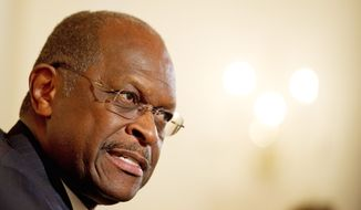 ** FILE ** Herman Cain is a contender for the Republican presidential nomination (Rod Lamkey Jr./The Washington Times)