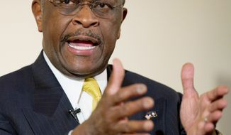 Republican presidential hopeful Herman Cain came in fourth in a new poll of GOP primary voters in South Carolina at 10 percent. (Rod Lamkey Jr./The Washington Times)