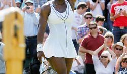 Serena Williams, who sat out a year with a variety of health problems, continued her comeback Tuesday night, taking part in mixed doubles, doubles and singles in World Team Tennis. She won doubles and singles but lost mixed doubles. (Associated Press)