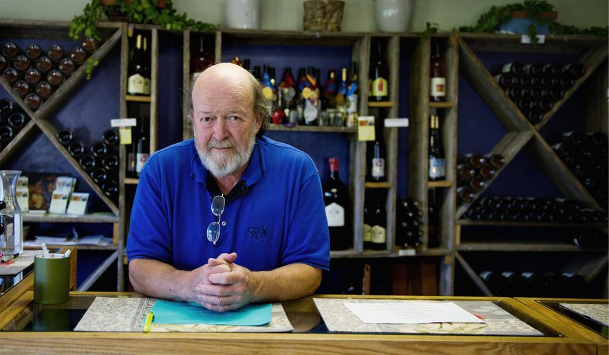 Winemaker and General Manager of Elk Run Vineyards Fred Wilson poses for a portrait in the vineyard, in Mt. Airy, Md., Sunday, July 17, 2011. Wilson and his wife Katherine Wilson started the vineyard in 1980. (Drew Angerer/The Washington Times)