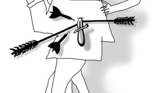 Illustration: Taking the arrows by John Camejo for The Washington Times