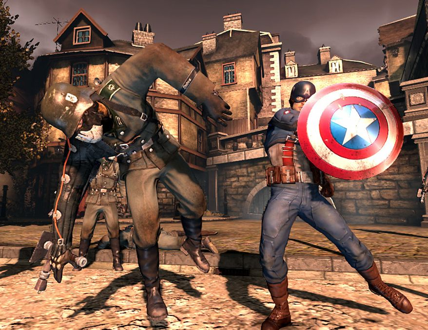 A shield comes in handy for Marvel Comics' legendary hero in the video game Captain America: Super Soldier.