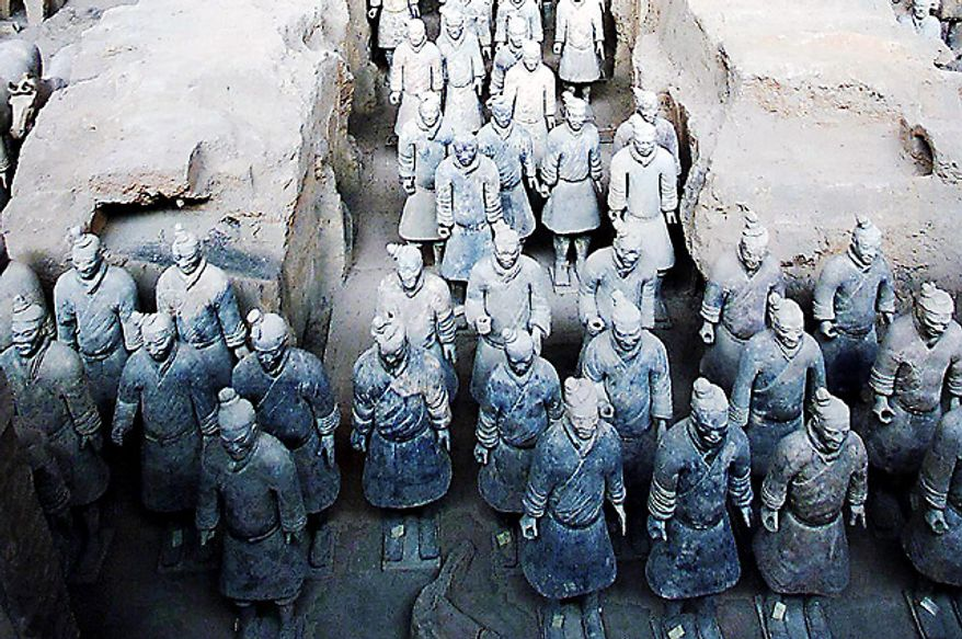 Tomb no. 1, the largest of the three pits where China's army of terracotta soldiers are buried, (Photo: AFP)