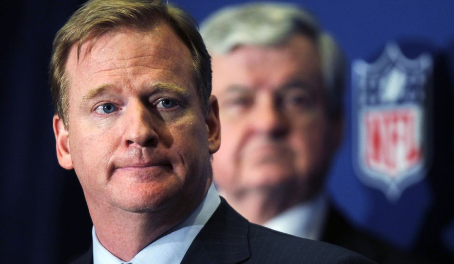 NFL Commissioner Roger Goodell announces that NFL owners have agreed to a tentative agreement that would end the lockout, pending player approval, on Thursday. As of Friday night, the players had yet to vote on the approved 10-year collective bargaining agreement. (AP Photo/John Bazemore)
