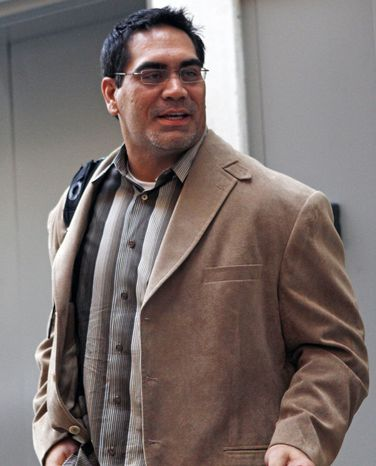 Kevin Mawae, president of the NFL Players Association, said in a statement Friday morning that players were discussing the NFL's most recent proposal. Players have yet to approve the 10-year collective bargaining agreement approved by the owners. When they do, the lockout will be lifted. (AP Photo/Jacquelyn Martin)