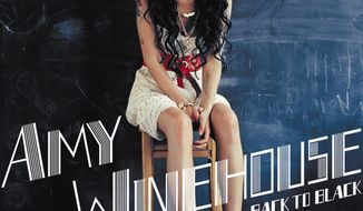 """Album cover for Amy Winehouse's cd """"Back to Black"""", which has again begun tearing up the charts after her tragic death this weekend."""
