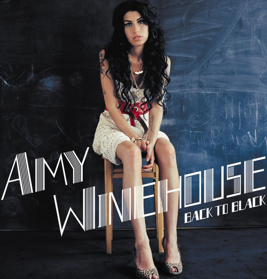 "Album cover for Amy Winehouse's cd ""Back to Black"", which has again begun tearing up the charts after her tragic death this weekend."