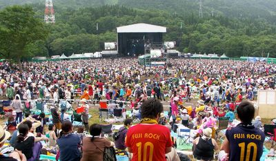"Japan's annual Fuji Rock Festival, seen here during the 2010 event, will be held this weekend. Organizers of the festival and various other events are forging ahead with plans this summer, despite the ongoing fallout from disasters that devastated the country in March. ""The people need it,"" Fuji Rock founder Masa Hidaka said. (Christopher Johnson/Special to The Washington Times)"