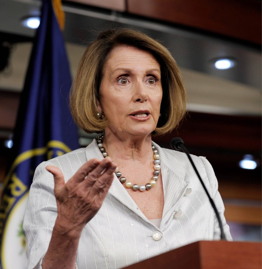 House Minority Leader Nancy Pelosi sent a letter Monday to leaders of the House Ethics Committee, saying an investigation is warranted. (Associated Press)