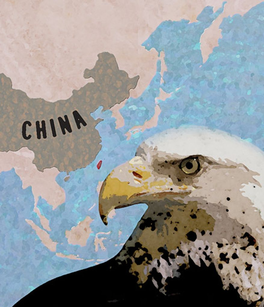 Illustration: China by Greg Groesch for The Washington Times