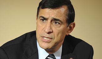 House Oversight and Government Reform Chairman Darrell Issa, California Republican, answers questions during an interview with editors and reporters at The Washington Times on July 25, 2011. (Rod Lamkey Jr./The Washington Times)