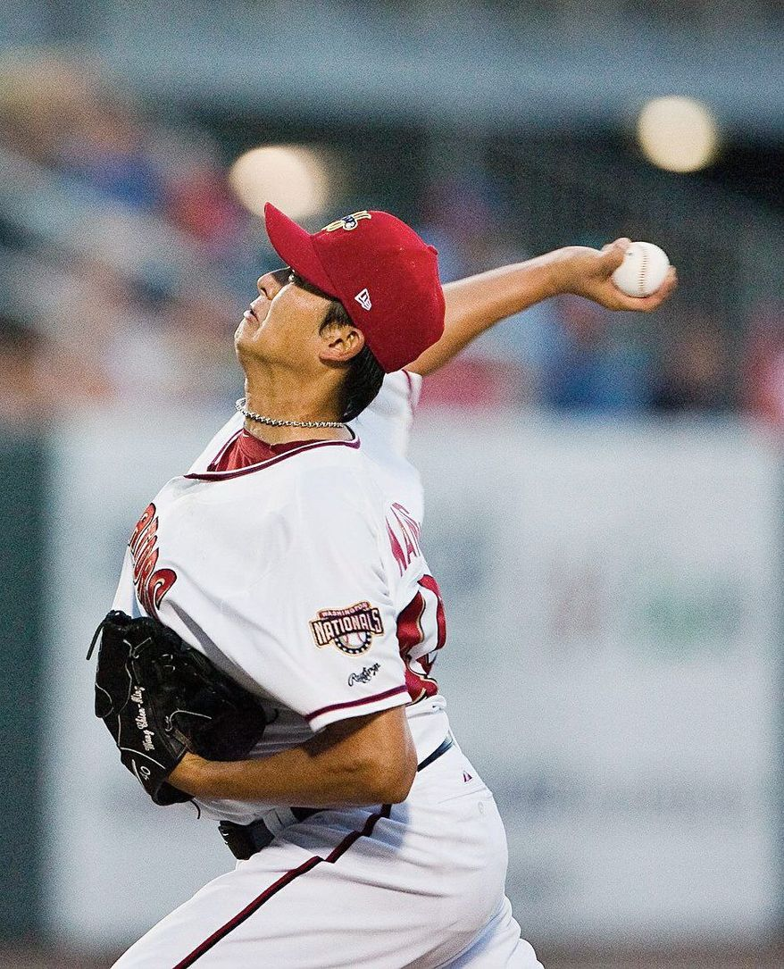 Chien-Ming Wang won 19 games each season  in 2006 and 2007, relying on a sinker that was considered among the best in baseball. (Jenny Kane/ The (Harrisburg, Pa.) Patriot-News)