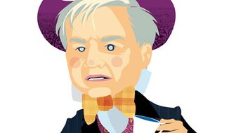Illustration: Chris Matthews by Linas Garsys for The Washington Times