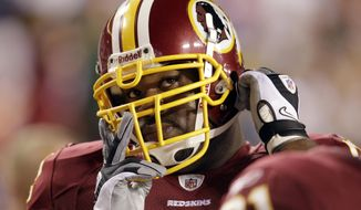 The Washington Redskins shipped Albert Haynesworth to the New England Patriots on Thursday for a 2013 fifth-round draft pick, (AP Photo/Rob Carr, File)