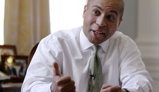 **FILE** Massachusetts Gov. Deval Patrick speaks Dec. 22, 2009, during an interview in his office at the Statehouse in Boston. (Associated Press)