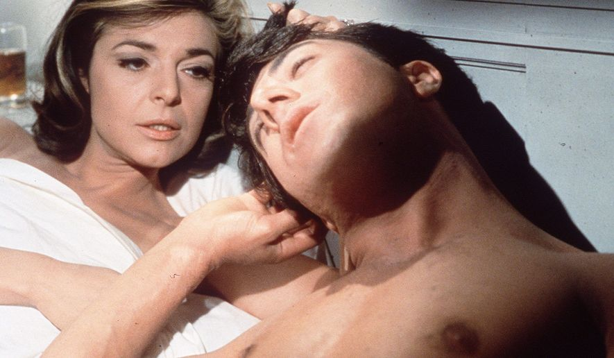 """ASSOCIATED PRESS Mrs. Robinson, portrayed by Anne Bancroft, brought cougerdom to fame by seducing young Benjamin Braddock, played by Dustin Hoffman, in the 1967 film """"The Graduate."""""""