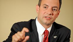 "RNC Chairman Reince Priebus is anticipating that President Obama will raise a huge amount of money for re-election. ""My job really right now is to maximize [Republican] net dollars,"" he says. (Rod Lamkey Jr./The Washington Times)"
