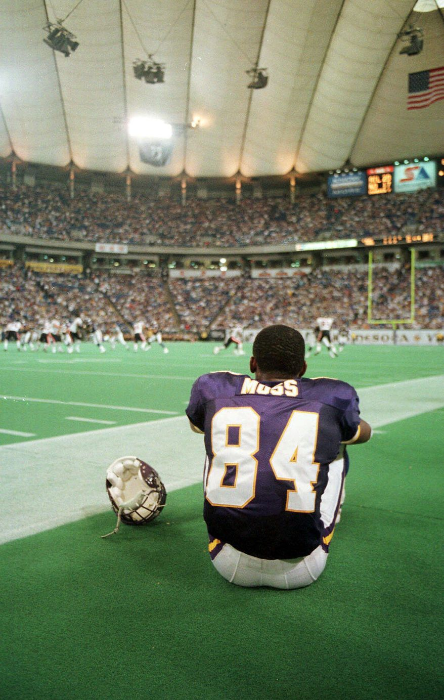 ASSOCIATED PRESS Wide receiver Randy Moss became one of the NFL's most polarizing players during his career. Last season, he played with New England, Minnesota and Tennessee, catching just six passes in eight games with the Titans.