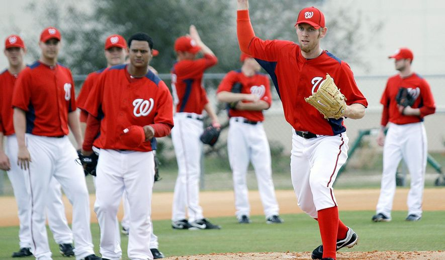 Nationals right-hander Stephen Strasburg will make his first rehab start Sunday for Single-A Hagerstown. (Associated Press)