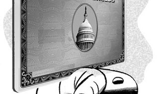 Illustration: Spending by Alexander Hunter for The Washington Times
