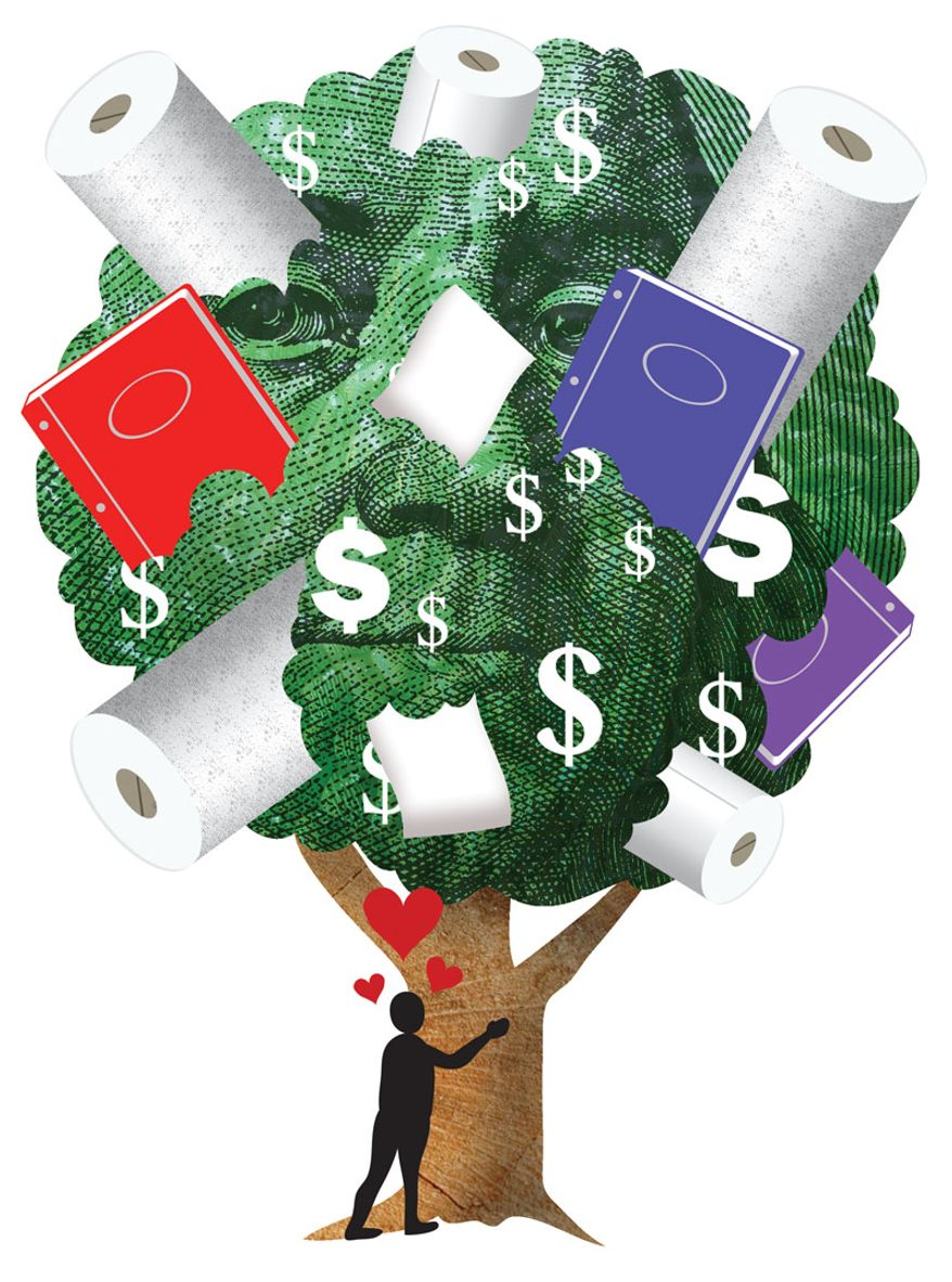 Illustration: Tree hugger by Greg Groesch for The Washington Times