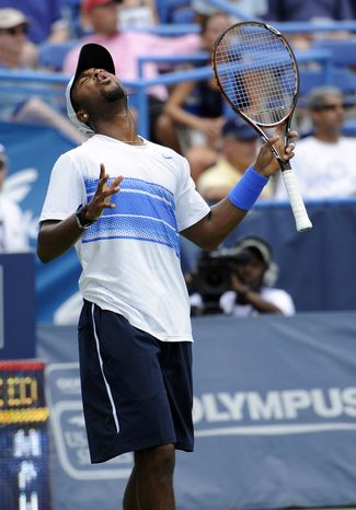 United States' Donald Young lost to Radek Stepanek, of the Czech Republic, at the Legg Mason Tennis Classic on Saturday, 6-3, 6-3. (AP Photo/Nick Wass)