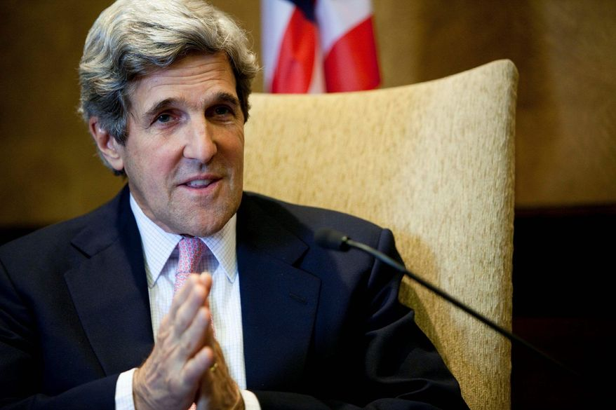 """""""I believe this is, without question, the tea party downgrade."""" -- Sen. John F. Kerry, Massachusetts Democrat, said on NBC's """"Meet the Press."""" (Associated Press)"""
