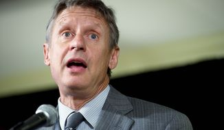 """I do have a resume that suggests that I am very credible,"" says former New Mexico Gov. Gary Johnson. (Barbara Salisbury/The Washington Times)"