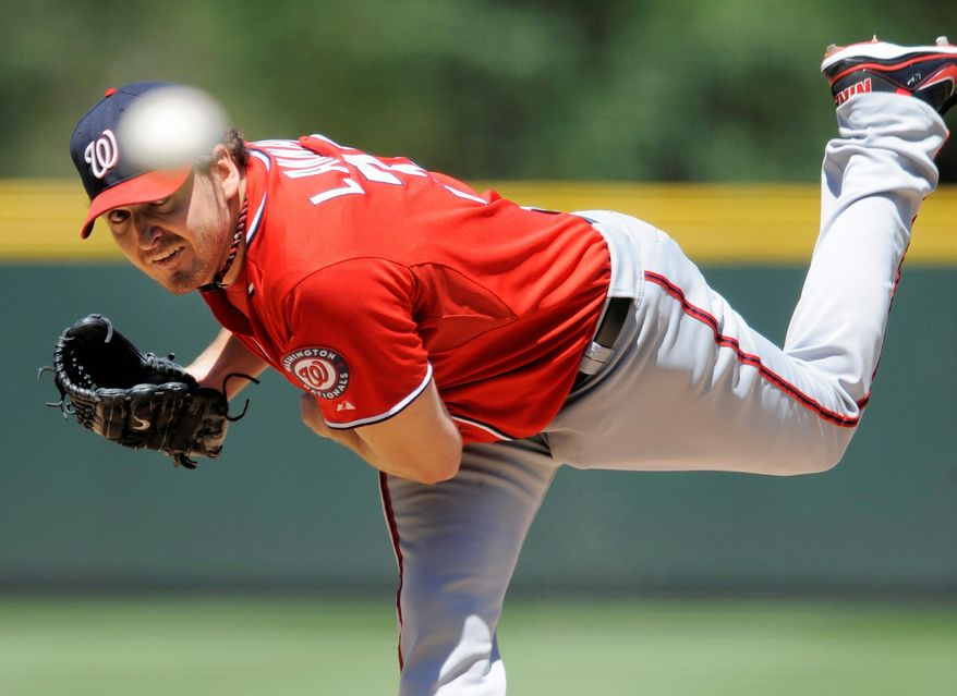 associated press After Sunday's win against the Rockies, Nationals starting pitcher John Lannan is 6-2 since May 27.