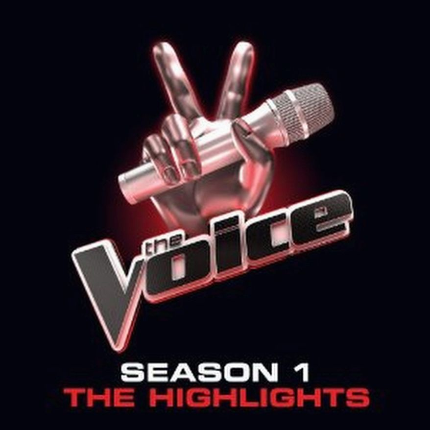 """CD cover for """"The Voice: Season 1 the highlights"""" from Universal Republic Records."""